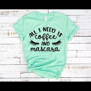 coffee & mascara t-shirt